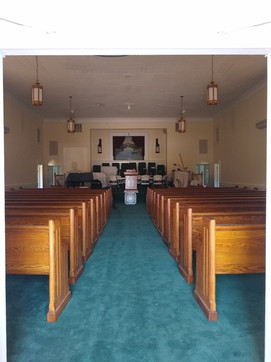 New pews -New carpet