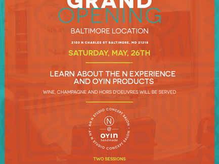 Grand Opening This Saturday in Baltimore!