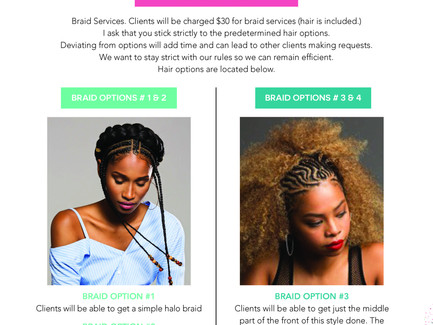 Get Your Hair Braided up at this year's Pamper Lounge Tomorrow