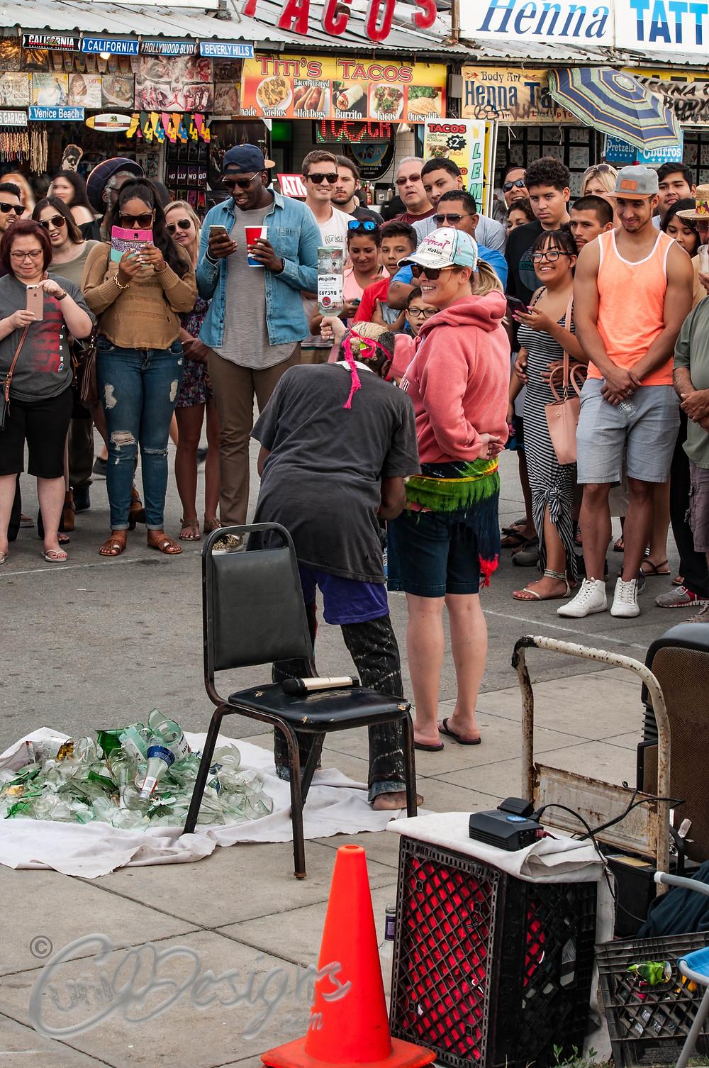 Street performer Venice Beach CA
