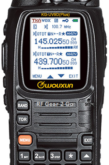 Wouxun KG-UV9D+ Dual-Band Radio with 3300 mAh Battery & AM Aircraft Receive