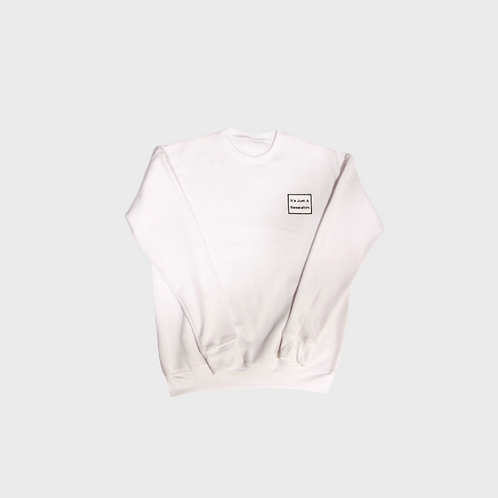 Eco Crewneck Sweatshirt- White