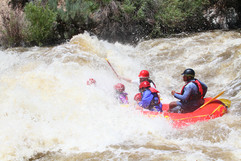 Austin dropping into Sous Hole on commercial trip with Santa Fe Rafting