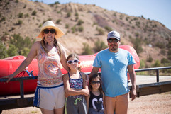 Awesome family pictures on the Rio Chama River in New Mexico