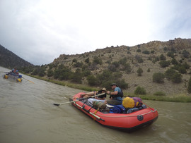 Daisy and Will Graves rowing on the Rio Chama in New Mexico with the most recommended and highly recommended rafting company in New Mexico