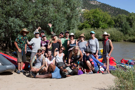 Big Groups rafting on the Rio Chama in New Mexico near Santa Fe