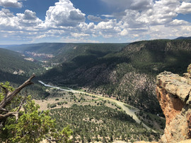 Hiking in New Mexico by the Rio Chama River