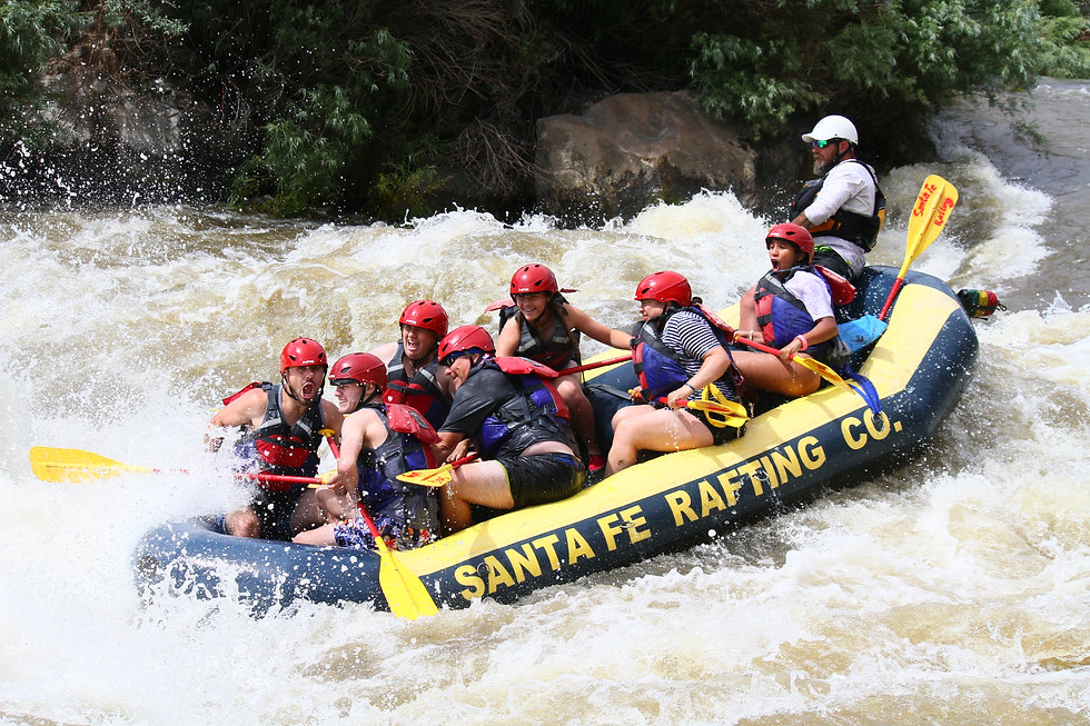 Sous Hole on the Mighty Rio Grande River in New Mexico. Santa Fe Rafting Co. is the best rafting outfitter in New Mexico to take you and your family on rapids down the rio grande.