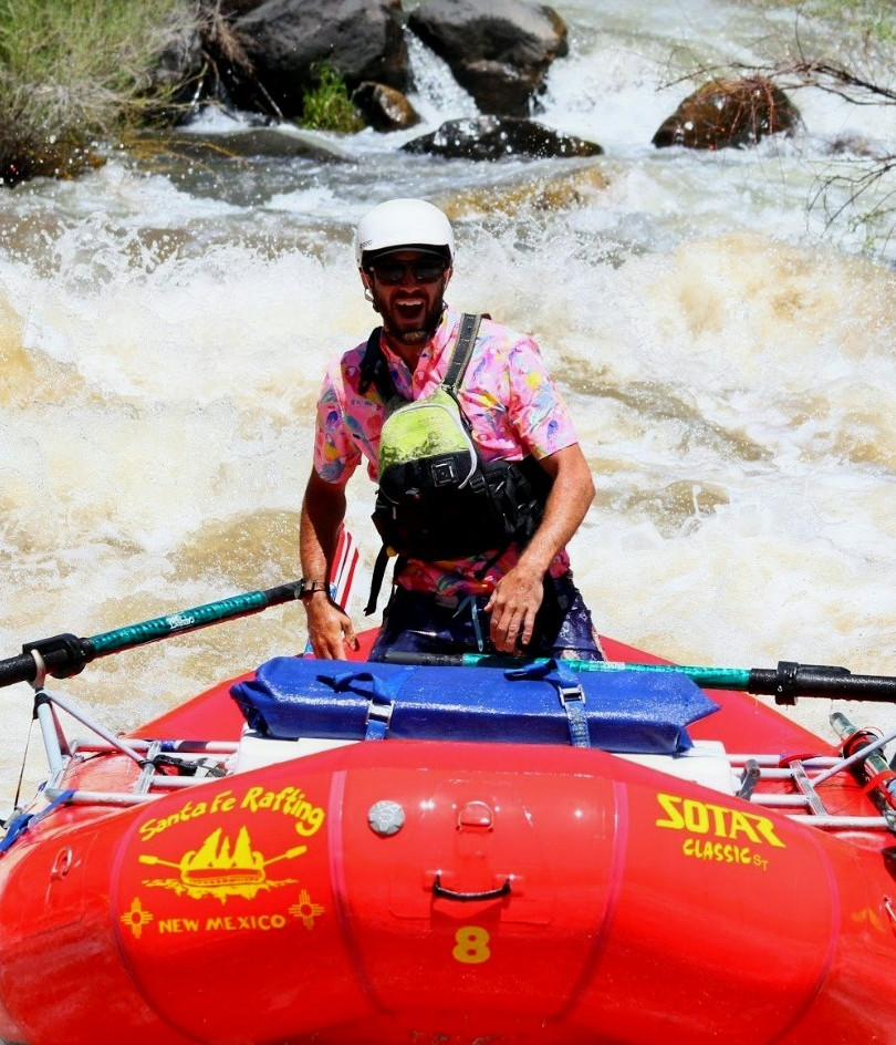 Taos Box rowing, rafting, boating, kayak, river adventures in New Mexico with Santa Fe Rafting Company. Expert Guides provide half-day and full-day whitewater trips on the Wild and Scenic Rio Grande River.