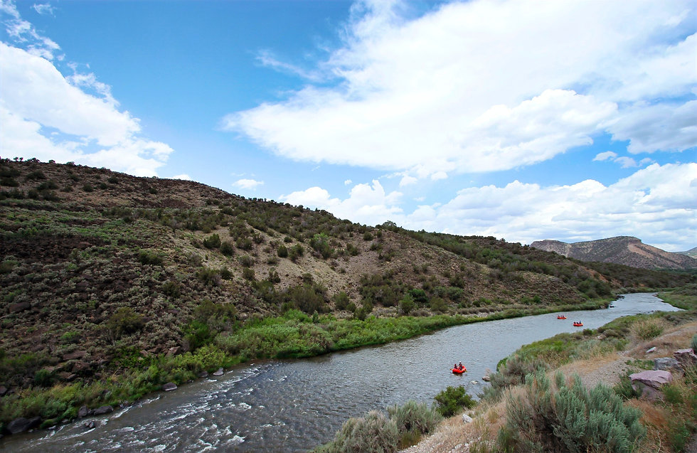 Famous Wild and Scenic Rio Grande in New Mexico Rafting with Santa Fe Rafting Company based in Santa Fe. Outdoor Activities to do near me