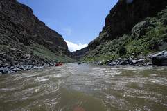 Taos Box on the Rio Grande river trip with Santa Fe Rafting Company in New Mexico
