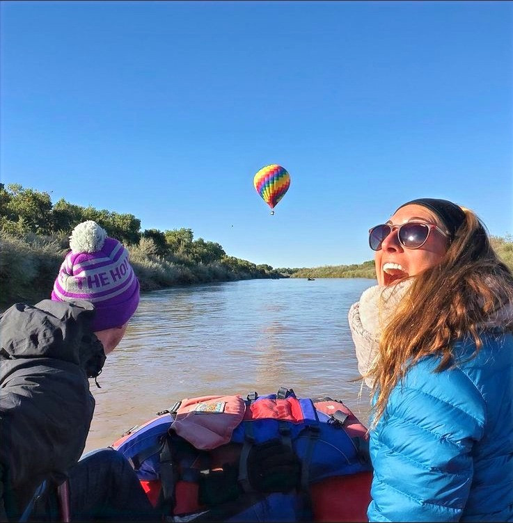Santa Fe Rafting rents gear and takes guests on the river during the Famous Albuquerque Balloon Festival. A once in a life time experience on the mighty rio grande.