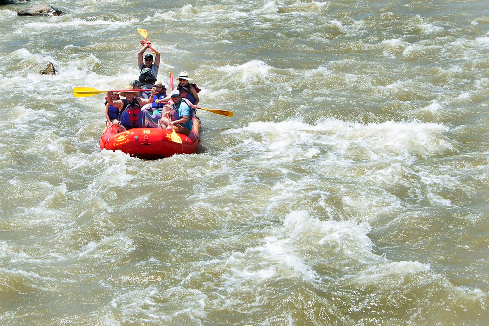 Awesome white water adventure with Santa Fe Rafting in Chama, New Mexico. Speacil, fun, bonding time with family and friends in New Mexico. Day trips and things to do in Santa Fe.