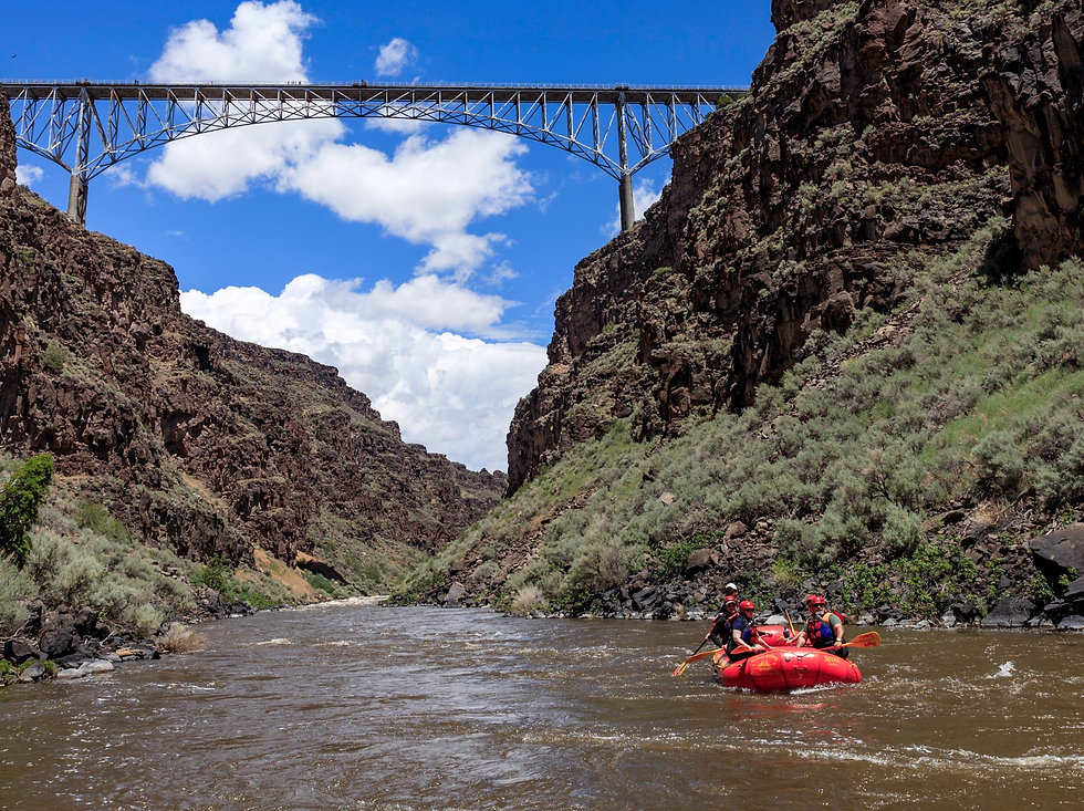 Taos Gorge Bridge in New Mexico the Best River trips in New Mexico in Santa Fe Photo Credit Justin Rogers