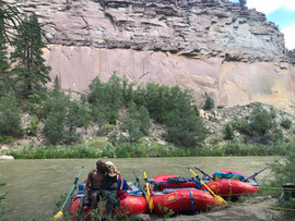 Reece and Sunita on the Rio Chama Multi Day Guide Trip 2020