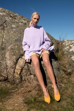 Institute Magazine /LILAC LANDCSAPE Photography: Volha Hapanenka Styling: Ali Davoodi Model: Fanny Gustaafson Mua & Hair: Hade Deneef