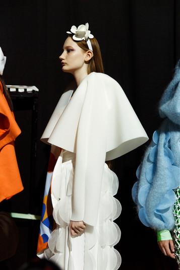Antwerp Fashion Department SHOW Royal Academy of Fine Arts Mua Design : Inge Grognard applied: Hade Deneef