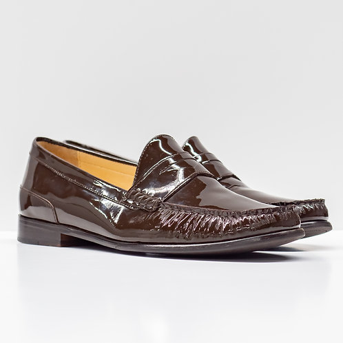 0658 BROWN PATENT LEATHER SIZE 9