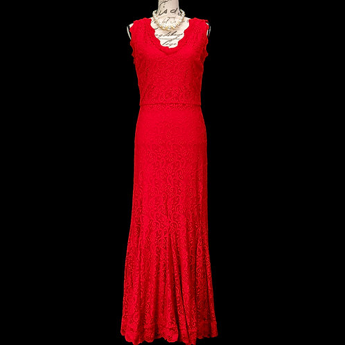 0493R RED LACE POSH COUTURE