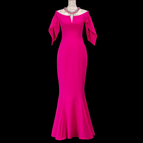 0501 POSH COUTURE HOT PINK DRESS