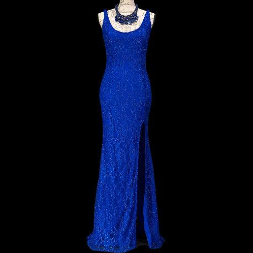 0347B CBR BLUE LACE DRESS
