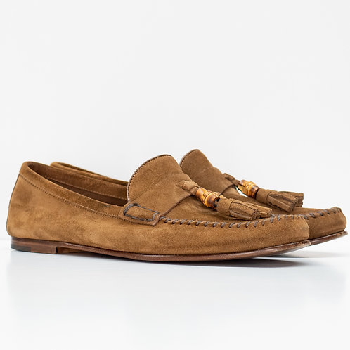 0654 BROWN SUEDE GUCCI SIZE 8.5