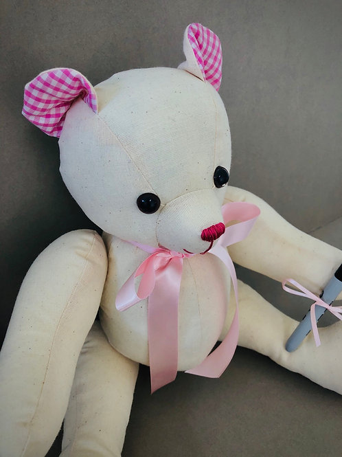 Large Signature Bear (Pink gingham)