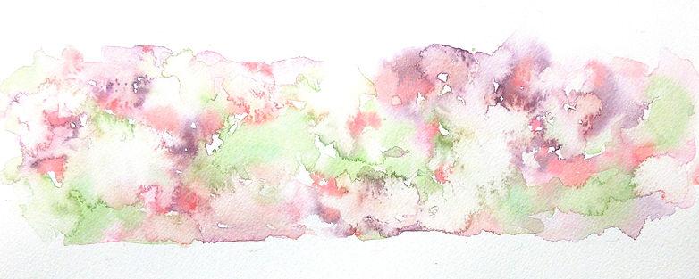 春の山のような模様2 水彩画