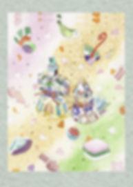 ゆめあそび(雛人形と桃の節句)水彩画 福井良佑 作
