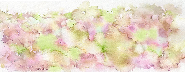 春の山のような模様1 水彩画