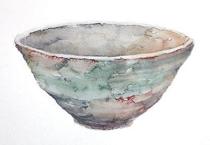 抹茶茶碗2(水彩画)