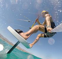 Foilboarding kitesurfing