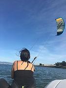 Beginner kitesurfing lesson