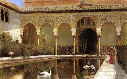 Weeks_Edwin_Lord_A_Court_in_The_Alhambra
