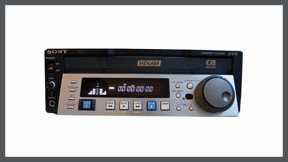 Sony J-H3 HDCAM PAL/NTSC Digital HD Video Cassette Compact Player JH-3 HD VTR
