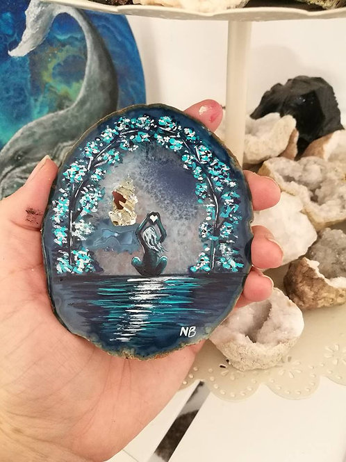 Sacred Soul Agate Geode Slice Painting