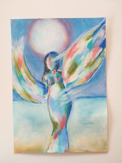 Original Painting Rising Goddess