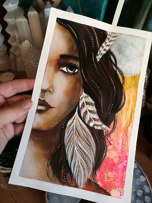 Original Painting : Warrior * RESERVED *
