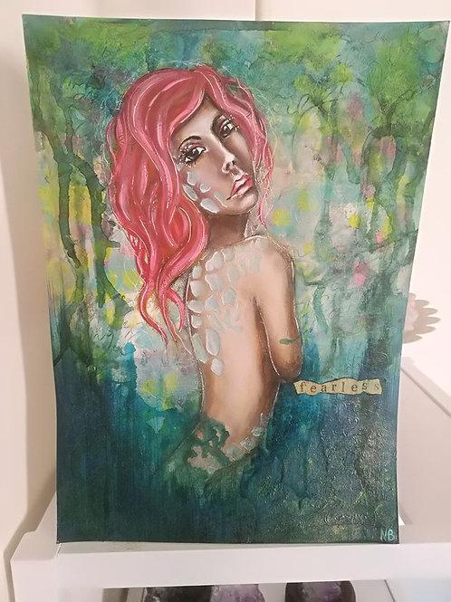 original painting Fearless - Mermaid