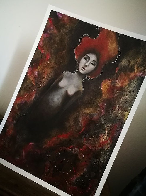 Original painting she is rising