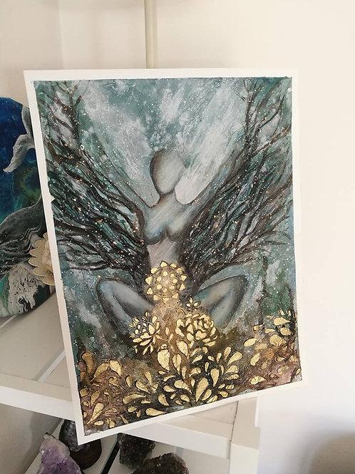 original painting Divine Feminine