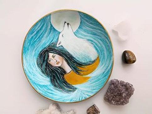 Manifestation / Mediation Clay bowl Wild Spirit