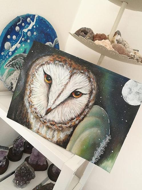 Original Painting Owl
