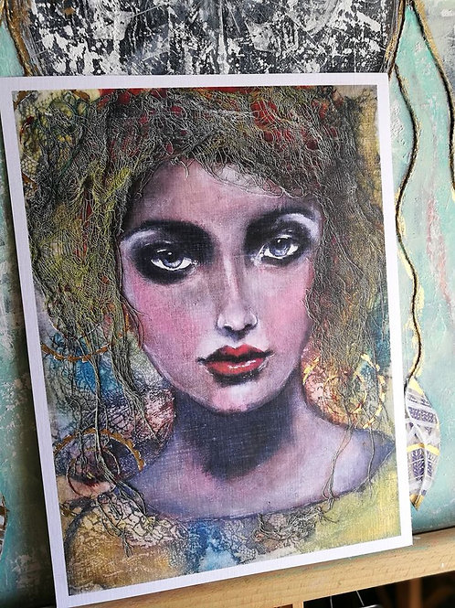 Print - Hand embellished with gold leaf paint