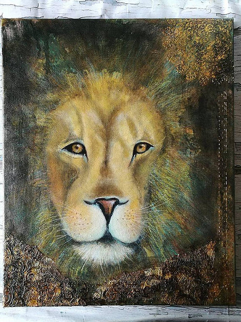 New moon in Leo : original Painting