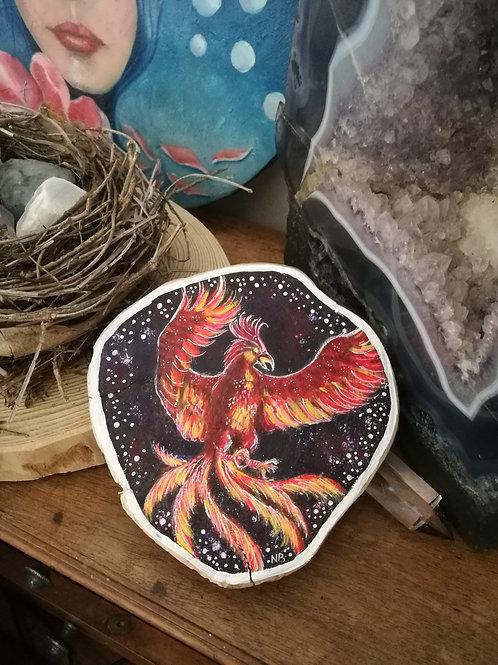Tree slice painting Phoenix RESERVED