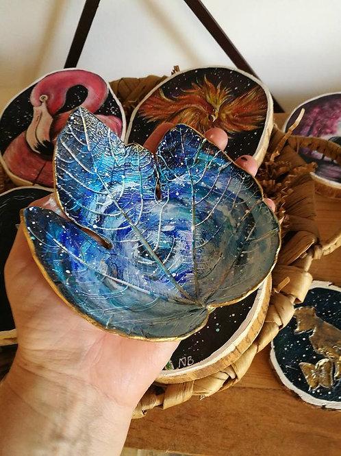 Sacred Soul Clay Leaf Bowl Universe