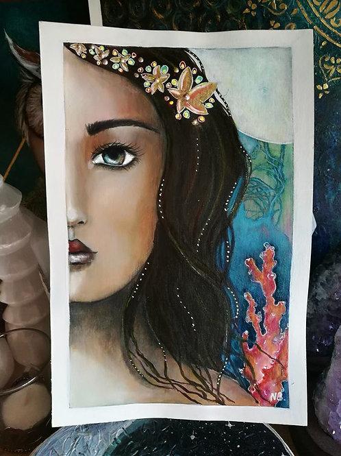 Original Painting : Atlantis Mermaid