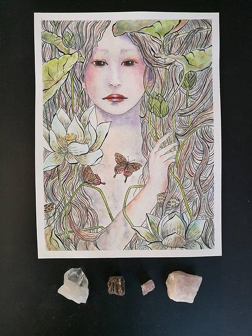 White lotus, original painting