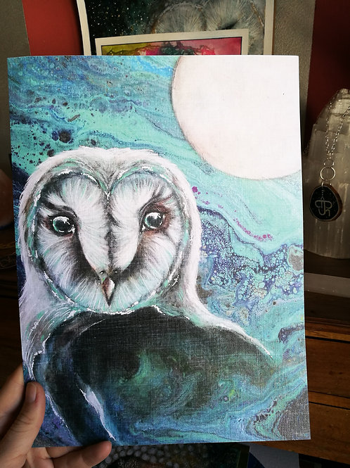 Print Owl Moon Magic